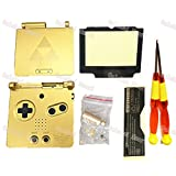 Oulekai Maoyi For Nintendo GBA SP Housing Shell Limited Edition For Zelda Gold Housing With Logo Screen Lens