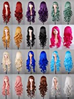 "Tengs Exclusive 32"" 80cm Spiral Curly Cosplay Costume Wig by Tengs"