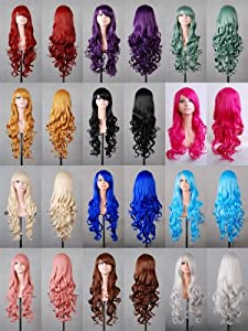 """Tengs Exclusive 32"""" 80cm Spiral Curly Cosplay Costume Wig by Tengs"""
