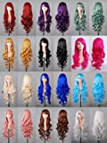 "Tengs Exclusive 32"" 80cm Spiral Curly Cosplay Costume Wig"