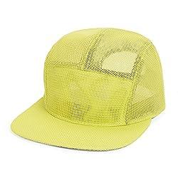 GP Accessories Mens Womens Mesh 5 Panel Hat Large Yellow