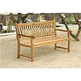 Destiny Hochwertige Teak Gartenbank / Sitzbank Victoria 140 cm - Ergonomisch geformt mit hohem Sitzkomfort !