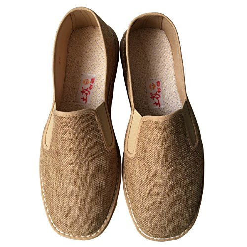 TimeBus Chinese Traditional Loofah Sponges Martial Arts Tai Chi Kung Fu Shoes Brown (41(men8.5/women10))