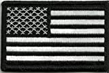 Tactical USA Flag Patch - Black & White