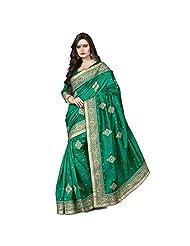 EthnicCrush Green Bhagalpuri Silk Saree
