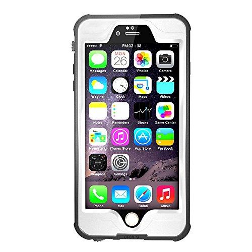 Merit iphone6s/iphone6用防水ケース アイフォン防水ケース 防水カバー 手帳型防水保護ケース 防塵 耐衝撃IP68テスト承認 指紋認識 本体液晶保護フィルム付き ホワイト
