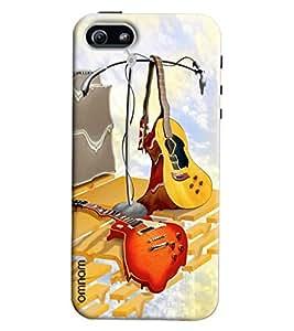 Omnam Guitar Lying Printed Designer Back Cover Case For Apple iPhone 5/S