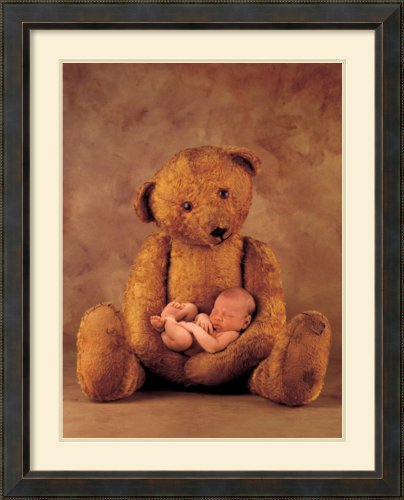 Campbell With Bear By Anne Geddes Framed front-959297
