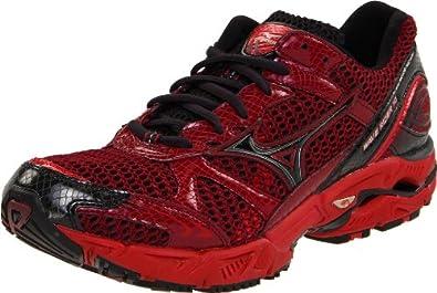 Mizuno Men's Wave Rider 14 Running Shoe,Port/mars Red-Anthracite,7 M US