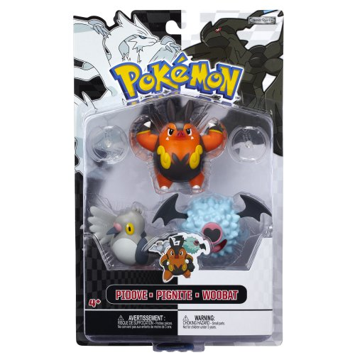 Pokemon Figure Multipack B&W Series #3 Pignite, Woobat And Pidove Picture