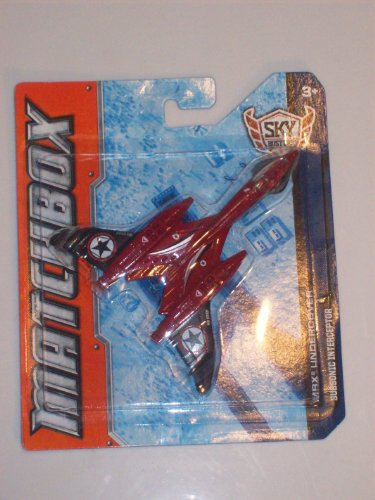 "MATCHBOX Sky Busters 'MBX UNDERCOVER"" Subsonic Interceptor"" Die Cast Experimental Recon Jet (RED & BLACK EDITION) - 1"