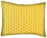 SheetWorld Twin Pillow Case - Percale Pillow Case - Lemon Honeycomb - Made In USA