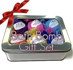 All Natural Bath Bombs Gift Set 6ct Bath Fizzies