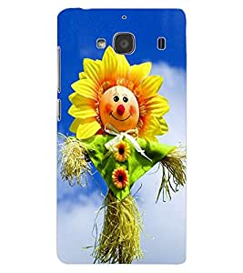 ColourCraft Funny SunFlower Design Back Case Cover for XIAOMI REDMI 2S