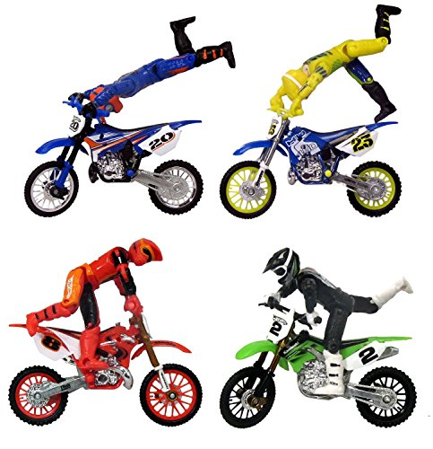 hot wheels moto x dirt bike riding set 4 riders with. Black Bedroom Furniture Sets. Home Design Ideas