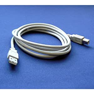 Canon BJC-80 Portable Printer Compatible USB 2.0 Cable Cord for PC, Notebook, Macbook - 6 feet White - Bargains Depot®