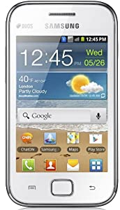 Samsung Galaxy Ace Duos S6802 - Factory Unlocked, Dual SIM, Android Smartphone - International Version, No Warranty (White)