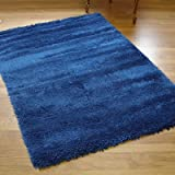 NEW THICK MODERN SHAGGY APOLLO RUG PEACOCK