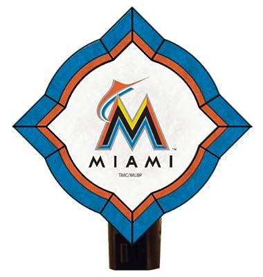 MLB Florida Marlins Vintage Art Glass Nightlight