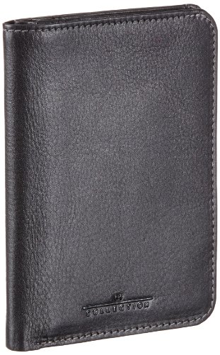 M-Collection Ausweisetui ID & Card Wallet Mens Black Schwarz (black 900) Size: 9x12x2 cm (H x W x D) (9x12x2 cm (B x H x T) EU)