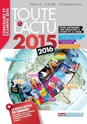Toute l 'actu 2015 Sujets et chiffres de l 'actualité 2015 - Concours & examens 2016