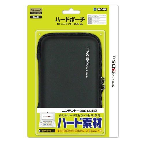 【3DS LL用】任天堂公式ライセンス商品 ハードポーチ for ニンテンドー3DS LL ブラック
