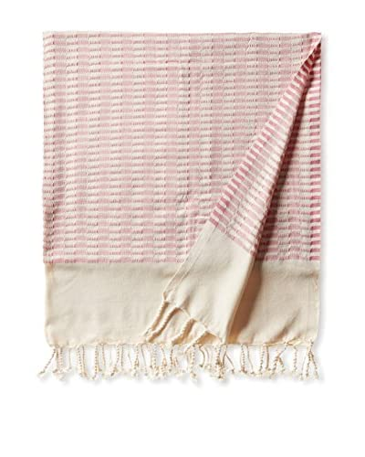 Nomadic Thread Turkish Towel Chic, Natural/Pink