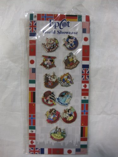 11 Piece Disney Pin Collector's Series Set Epcot World Showcase Set 2010