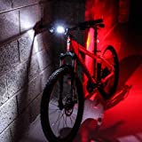 7dayshop HQ 3 Mode Silicone LED Front and Rear Bike Light Set (Frog Bicycle Lights and Torches). Versatile and Fast Fitting - Super Bright Twin LED Units with Batteries Included Too!