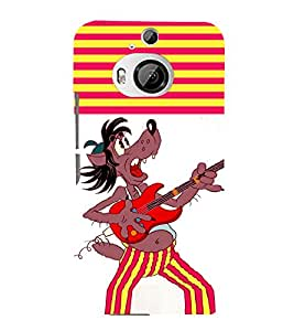 printtech Cartoon Guitar Back Case Cover for HTC One M9+::HTC One M9 Plus