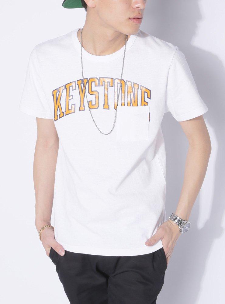 (ベストマート)BestMart カレッジ ロゴ ポケット Tシャツ メンズ カットソー 半袖 おしゃれ 春 夏 608522