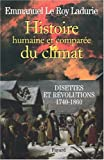 Histoire humaine et compare du climat : Tome 2, Disettes et rvolutions (1740-1860)