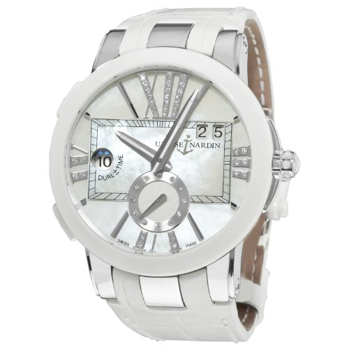 Ulysse Nardin Women's 24310/391 Executive Dual Time Mother of Pearl Diamond Dial Watch