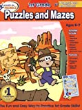 img - for Hooked on Learning 1st Grade Puzzles and Mazes Workbook (Hooked on Phonics) book / textbook / text book