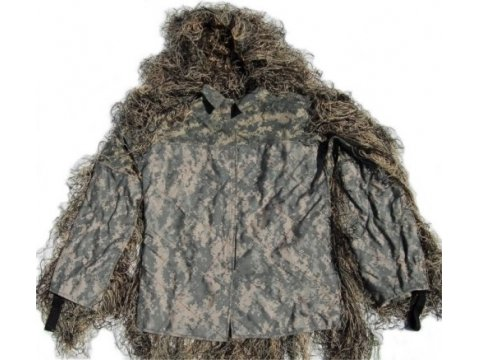 Synthetic Ultra-Light Sniper Ghillie ATD BDU Mossy Jacket