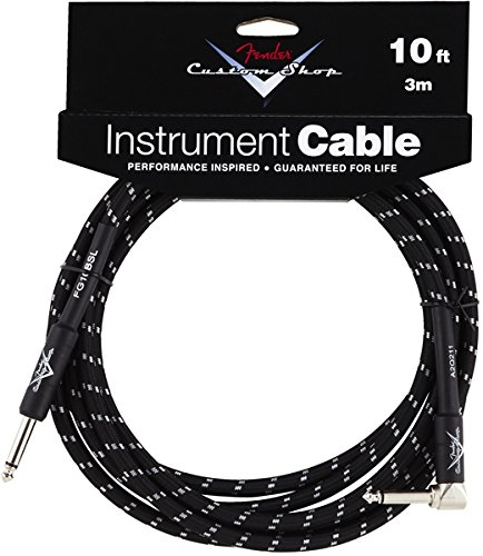 fender-performance-series-custom-shop-jack-jack-coude-3m-10-ft-black-tweed-cable-audio-accessories-0
