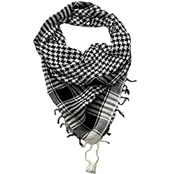 Craftshub Black & White Desert Arafat Scarf - Stylish Arafat desert scarf for both men and women