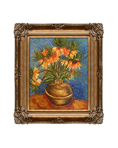 Vincent Van Gogh Crown Imperial Fritillaries In A Copper Vase Hand-Painted Reproduction