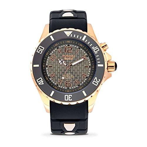 Kyboe. Rosa Mujer Reloj analógico de goma-rg-001-negro-40