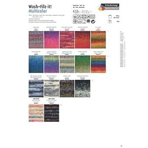Schachenmayr Wash+Filz-it! 210 rosso collera mix 50g Wolle