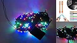 MJR 8 Functions Multi Color Remote LED Light - 45 Meter / 145 FEET & USB LED Light for Diwali / Parties / Puja / Christmas/ New Year