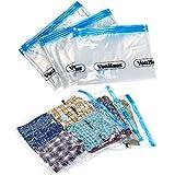 VonHaus 3x LARGE Vacuum Storage Space Saving Clothes Bags Packs: 130 x 90cm