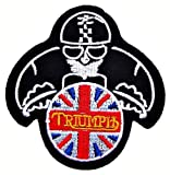 Ecusson brode patch Triumph Motorcycles Vintage Racing Biker Logo Jackets Embroidered Iron or Sew on Patch by wonderfullmoon...