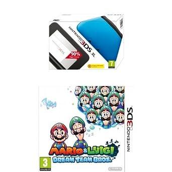 Nintendo Handheld Console 3DS XL - Blue with Mario and Luigi: Dream Team Bros