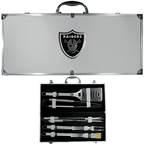 NFL Oakland Raiders 8-Piece Barbecue Set w/Case