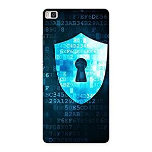 Delighted Cyber Secur Print Back Case Cover for Huawei P8