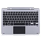 Original Chuwi Hi12 Multi Mode Rotary Shaft Keyboard Magnetic Docking Pogo Pin Separable Design, Hi 12 Metal Rotation Keyboard for 12.0 Inches Tablet (Color: Gray, Tamaño: medium)