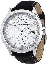 Comprar Festina F16573/1 - Reloj analógico de cuarzo para hombre con correa de piel, color negro