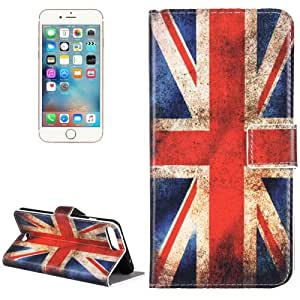 Crazy4Gadget For iPhone 7 Plus UK Flag Pattern Leather Case with Holder & Card Slots & Wallet
