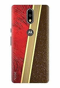Noise Designer Printed Case / Cover for Motorola Moto G, 4th Gen / Patterns & Ethnic / Crimson Silk Design